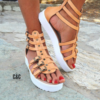 "Women Leather Sandal Gladiator ""wild edition"", strappy sandals, genuine leather, natural leather  sandals, Gladiator Sandals, women sandals"