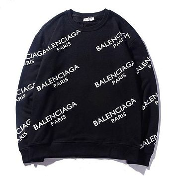 Balenciaga Fashionable Printed Hoodies With Round Necks And Long Sleeves Are Hot Sellers For Casual Couples
