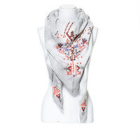 DYED VELOUR SCARF WITH ETHNIC EMBROIDERY - Accessories - Woman | ZARA United States
