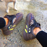 Adidas Yeezy Boost 700 retro trend men and women running shoes old shoes Purple