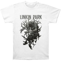 Linkin Park Men's  Antlers T-shirt White Rockabilia