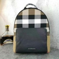 BURBERRY MEN'S LEATHER BACKPACK BAG