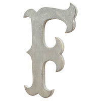 "18"" Circus Letter, Distressed Silver, Signs"