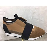 Balenciaga Men's Arena Leather Casual Sneakers Shoes