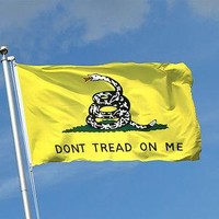 DONT TREAD ON ME DOUBLE SIDED EMBROIDERED 3'X5' FLAG WITH GROMMETS BRAND NEW