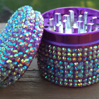 GRINDER -- Iridescent 3D Quilted Purple