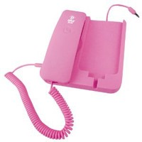 Pyle Home PIRTR60PN Handheld Phone and Desktop Dock for iPhone - Desktop Charger - Retail Packaging - Pink (Discontinued by Manufacturer)