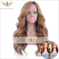6A 150Density Ombre Blonde Wavy Lace Front Wig Virgin Brazilian Hair Ombre Lace Wig Glueless Full Lace Human Hair Wigs For Women