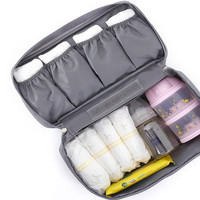 Grey Water Proof Cosmetic Portable Bag