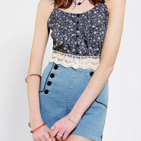 Lucca Couture Crochet Hem Cropped Tank Top