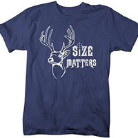 Shirts By Sarah Men's Funny Hunting Size Matters Buck T-Shirt Hunter