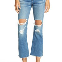 rag & bone/JEANS Distressed High Rise Crop Flare Jeans (Howell With Holes)   Nordstrom
