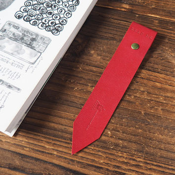 Leather Bookmarks #Red