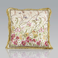 Jay Strongwater Poppies Pillow