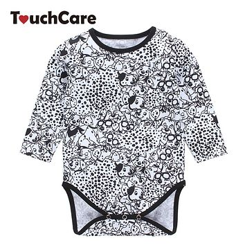 Baby Boy Girl Rompers born Long Sleeve Cute Animal Dogs Printed Jumpsuit Casual O-neck Clothes