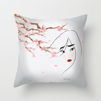 Disney Princess - Blossom Throw Pillow by Paulway Chew | Society6