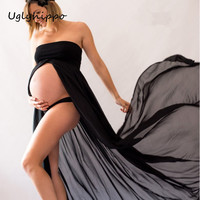 Fashion Maternity Photography Props Fancy Maternity Dresses Pregnant Clothes Chiffon Dress  For pregnant Photo Shoot