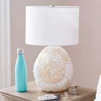 Shell Floral Double Bulb Table Lamp