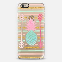 Pineapple pink mint stripes arrows pattern iPhone 6 case by Girly Trend | Casetify