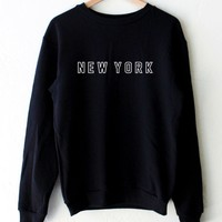 New York Oversized Sweatshirt- Black