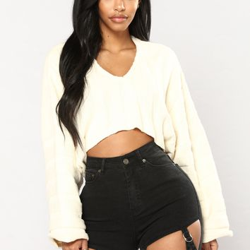 Made Up My Mind Top - Ivory