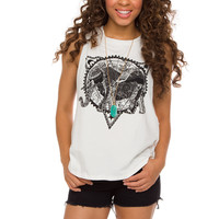 Ariel Elephant Top - White