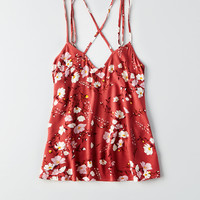 AEO Strappy Back Cami, Burgundy