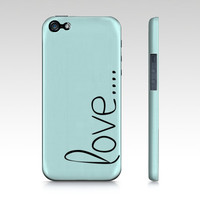 love... iPhone 4/S, iPhone 5, Samsung Galaxy S3 and S4 Phone Case Slim Fit Hard Case More Color Options Gift for Her Gift under 50