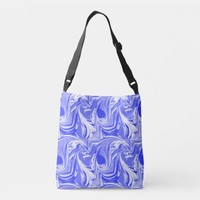 marbled blue design crossbody bag | Zazzle.co.uk
