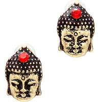 MKL Accessories Studs Little Budda Peace in Gold