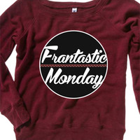 Off-The-Shoulder Frantastic Monday Crewneck - ConnorFranta - Official Online Store on District LinesDistrict Lines
