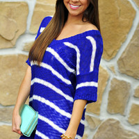 By The Water Tunic: Royal Blue | Hope's