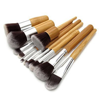 Wood Handle Makeup Brush Set