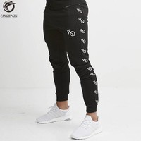 2018 New Skinny Leggings Men Jogging Sweatpants Joggers Running Tights Men Gym Fitness Compression Pants Sports Cotton Trousers