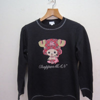 25% SALES ALERT Vintage 90's One Piece Sweatshirt Pull Over Street Wear Swag Cartoon Anime Sweater
