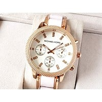 MICHAEL KORS Tide brand women's high-end fashion quartz watch white