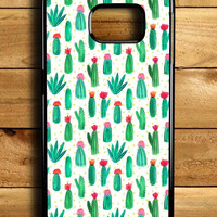 Cactus Cute Collage Samsung Galaxy S6 Edge Case