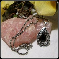 Grounding Protecting Black Onyx Necklace