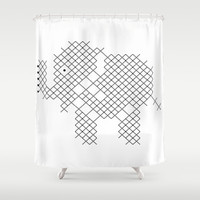 Elephant Shower Curtain by Yasmina Baggili