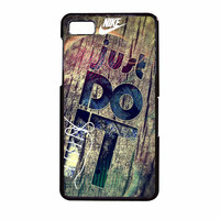 Nike Just Do It Wood BlackBerry Z10 Case