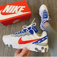 NIKE React Element 55 white/habanero red/game royal