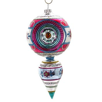 Shiny Brite Vc One Ball Drop With Reflector Ornament Vintage Celebration - 4027655