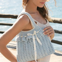 Victorian bag gothic handbag lolita bag Crochet handbag Summer bag ribbon bag purse handbag shoulder bag summer fashion Drops Lilith