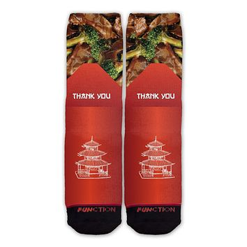 Function - Chinese Food Beef and Broccoli Take Out Box Container Fashion Socks