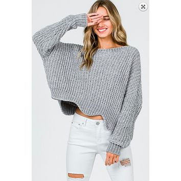 Just You And Me Sweater - Grey