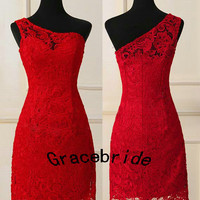 red short lace dresses prom dresses bridesmaid dresses homecoming dresses custom dresses wedding dresses holiday dresses evening dresses