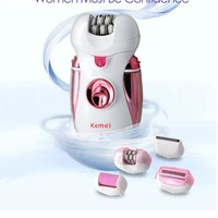 Multifuntional 4 in 1 Women Epilator Electric Hair Trimmer Epilator shaving machine body care hair trimmer with a Light