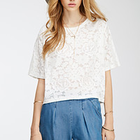 Floral Burnout Boxy Tee