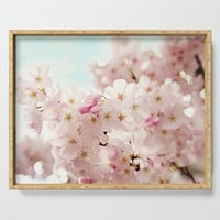 cherry blossoms Serving Tray by sylviacookphotography