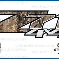 Chevy Silverado RealTree AP Z71 4x4 decals stickers - AP (2007-2013) bed side 1500 2500 HD (set of 2) [Officially Licensed, made in the USA, brand Decal Mods]
